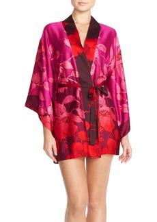 Natori 'Sophia 32' Floral Satin Robe
