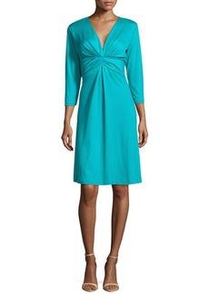 Natori Summit Pleated A-Line Dress