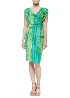 Natori Taal Lake Dress Jersey Dress, Blue