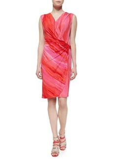 Natori Taal Lake Dress Jersey Dress, Chili