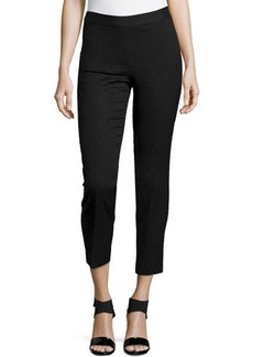 Natori Textured Jacquard Pants, Black