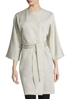 Natori Textured Wrap-Front Coat