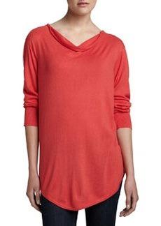 Natori Tranquil Long Cowl-Neck Sweater