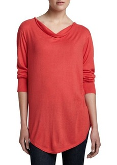 Natori Tranquil Long Cowl-Neck Sweater