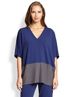 Natori Two-Tone Loose Knit Top