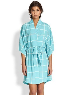 Natori Windowpane Short Robe