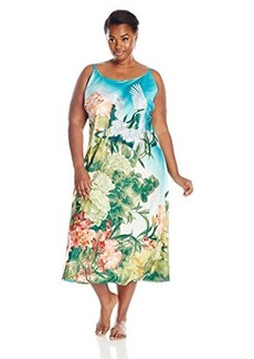 Natori Women's Plus-Size Birds of Paradise Nightgown