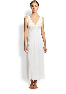 Natori Zen Lace Trimmed Long Gown