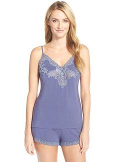 Natori'Feathers' Lace Camisole & Tap Shorts