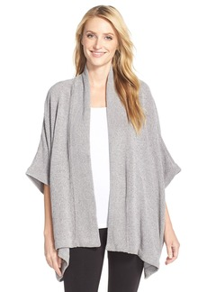 Natori 'Holly' Chenille Open Front Cardigan