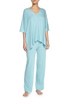 Shangri La Two-Piece Tunic Pajama Set, Freshwater   Shangri La Two-Piece Tunic Pajama Set, Freshwater