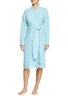 Truffle Knit-Chenille Wrap Robe, Light Caribe Blue   Truffle Knit-Chenille Wrap Robe, Light Caribe Blue