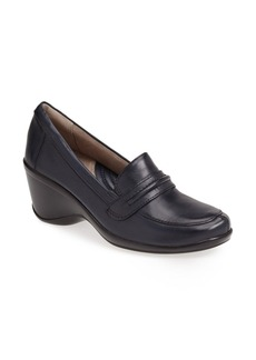 Naturalizer 'Insert' Leather Wedge Loafer (Women)