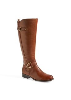 Naturalizer 'Jersey' Leather Riding Boot (Wide Calf) (Women)