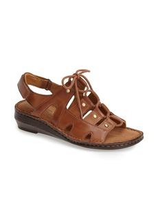 Naturalizer 'Leona' Leather Wedge Sandal (Women)