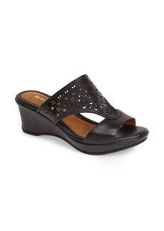 Naturalizer 'Vanish' Perforated Leather Wedge Sandal (Women)