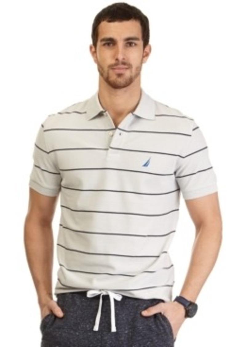 Nautica nautica big tall striped deck performance polo for Big and tall polo shirts on sale