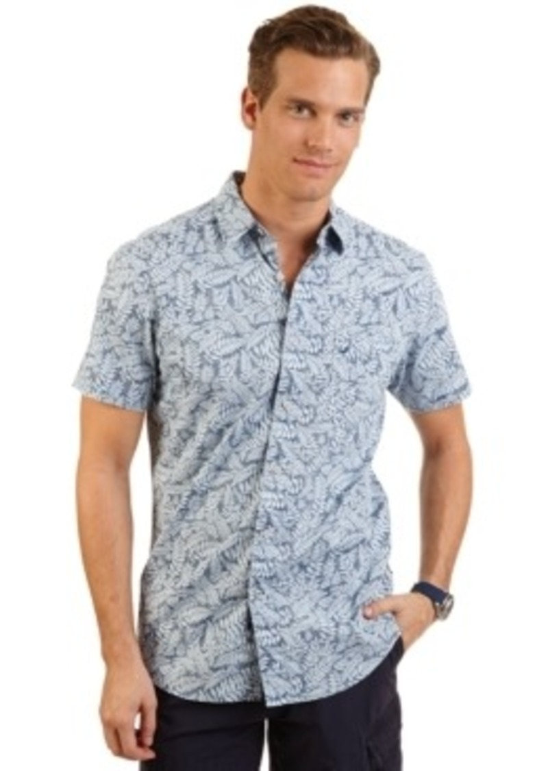 Nautica nautica big and tall leaves print shirt casual for Big and tall casual shirts