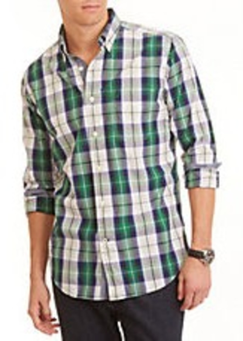 Nautica nautica big and tall plaid cotton shirt casual for Big and tall casual shirts