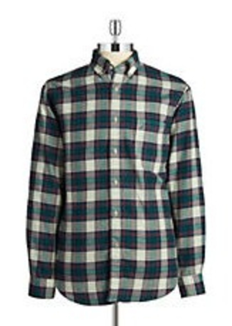 Nautica nautica flannel button front shirt casual shirts for Nautica shirts on sale