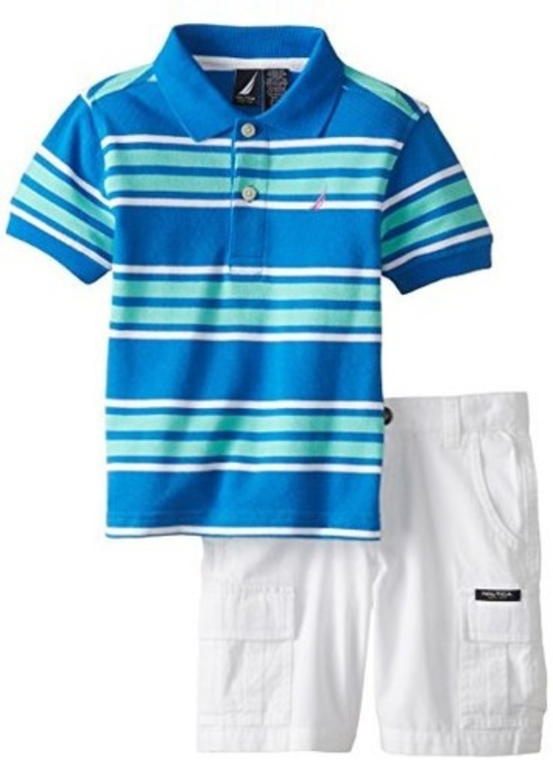 Nautica nautica little boys 39 2 piece short sleeve striped for Nautica shirts on sale