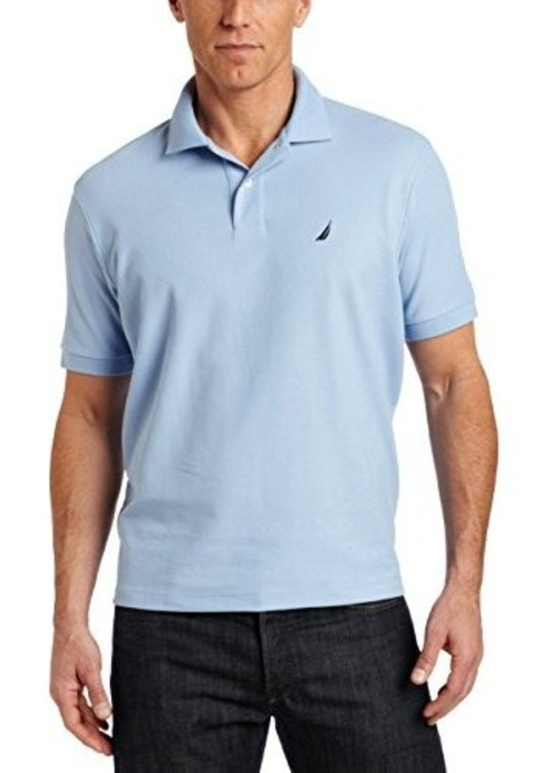 Nautica nautica men 39 s big tall solid deck polo shirt for Big and tall casual shirts
