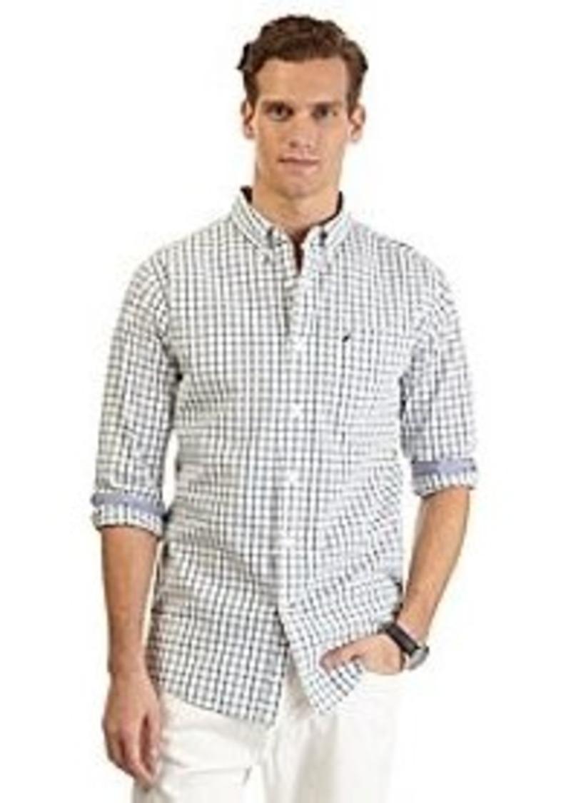 Nautica nautica men 39 s long sleeve medium plaid woven for Mens medium long sleeve shirts