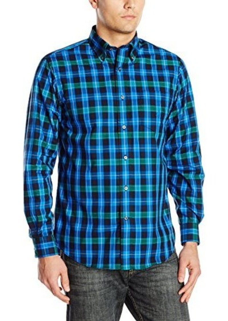 Nautica nautica men 39 s medium plaid long sleeve shirt for Mens medium long sleeve shirts