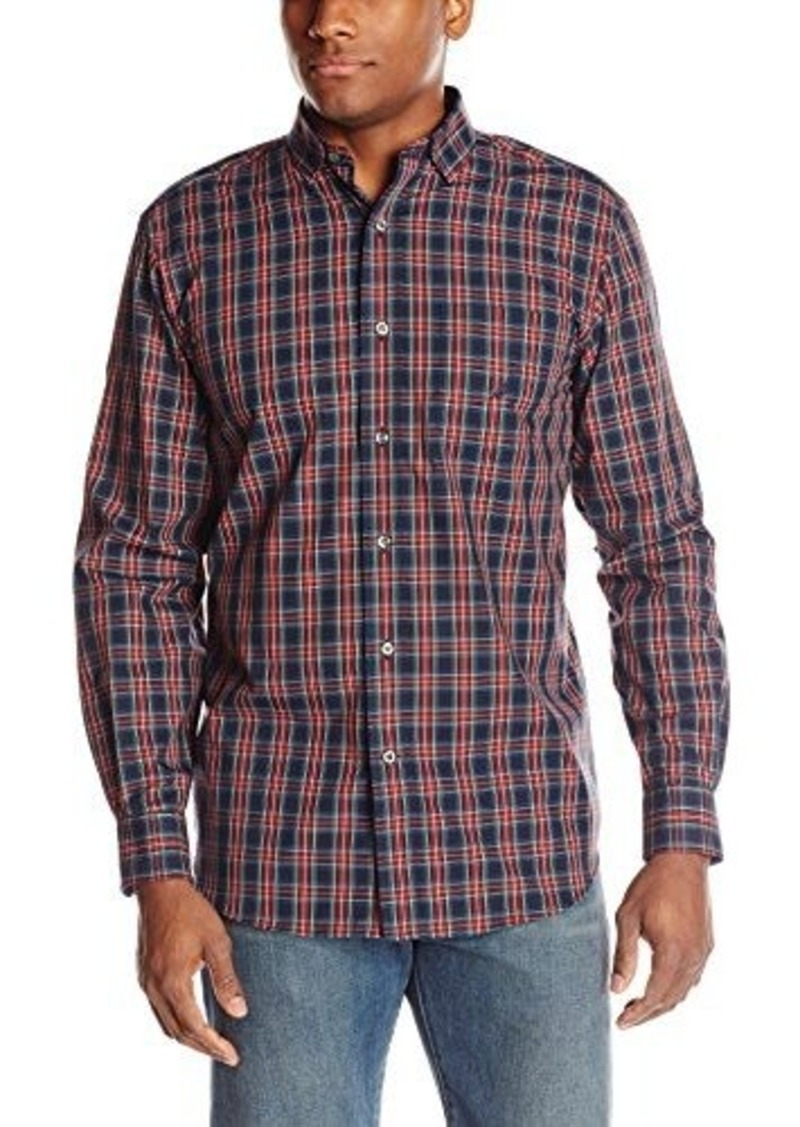 Nautica nautica men 39 s plaid long sleeve button front shirt for Nautica shirts on sale