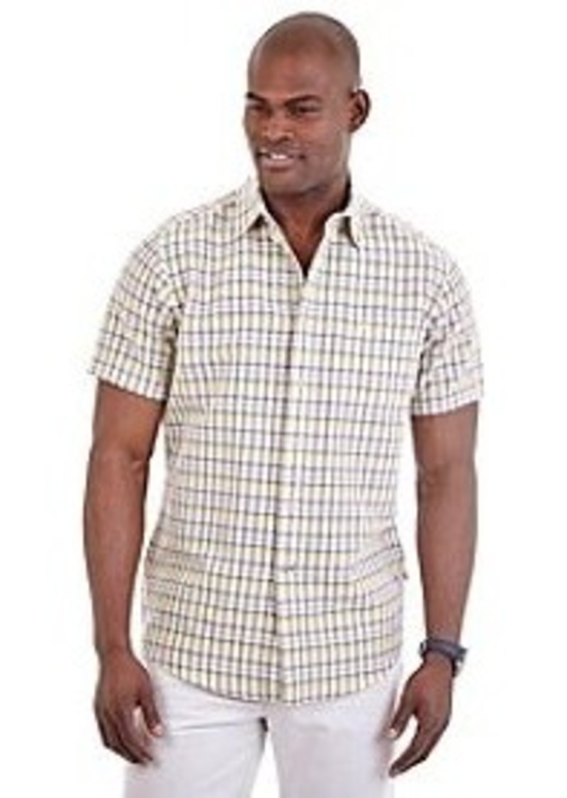 Nautica nautica men 39 s short sleeve plaid button down for Nautica shirts on sale