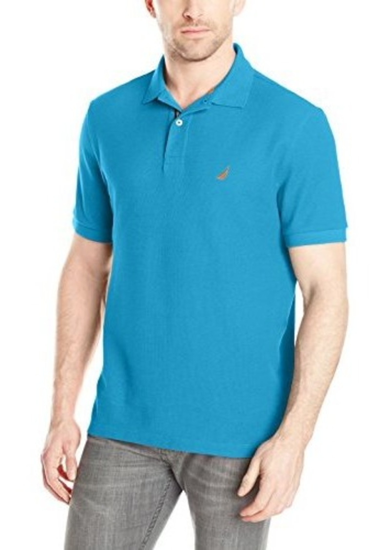 Nautica nautica men 39 s solid deck short sleeve polo shirt for Nautica shirts on sale
