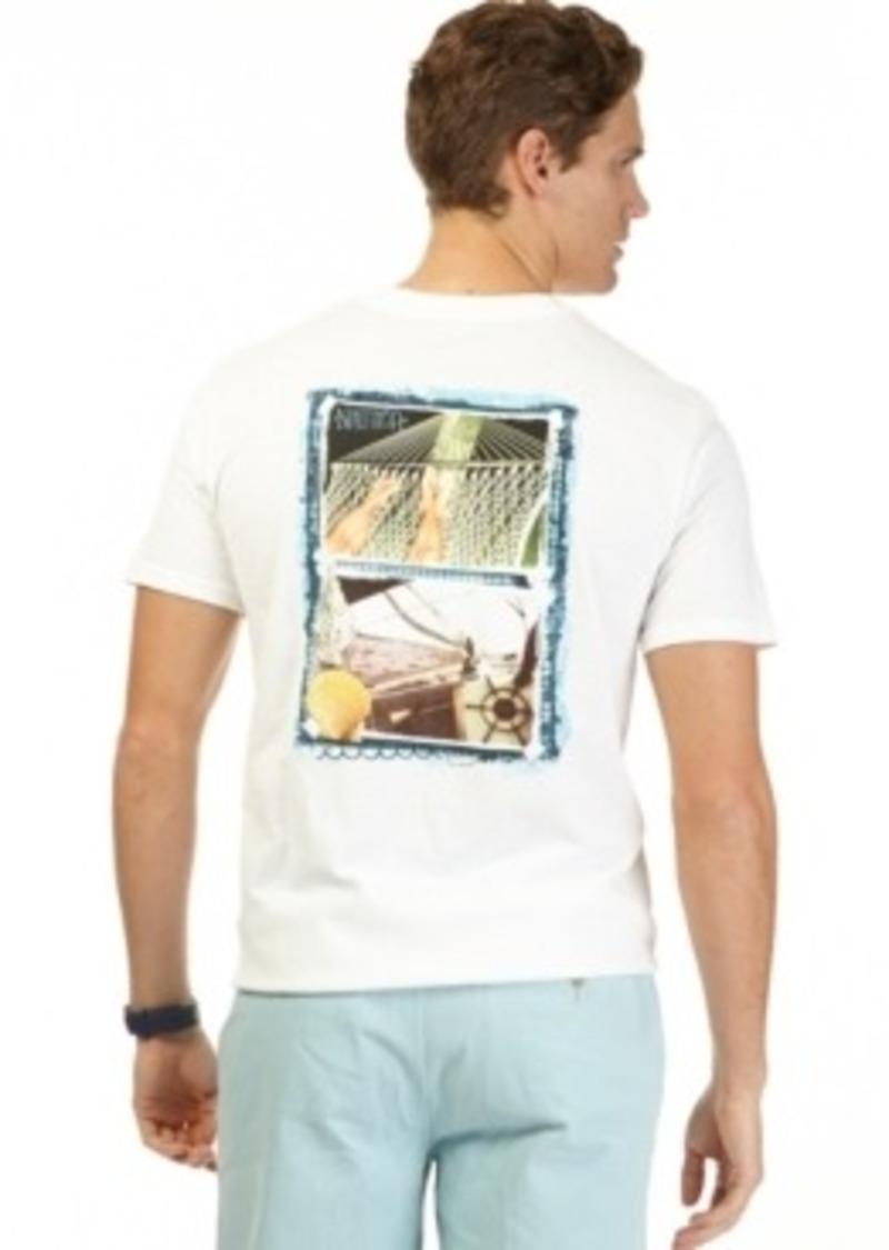 Nautica nautica shell graphic t shirt sizes xl xxl and for Xxl tall graphic t shirts