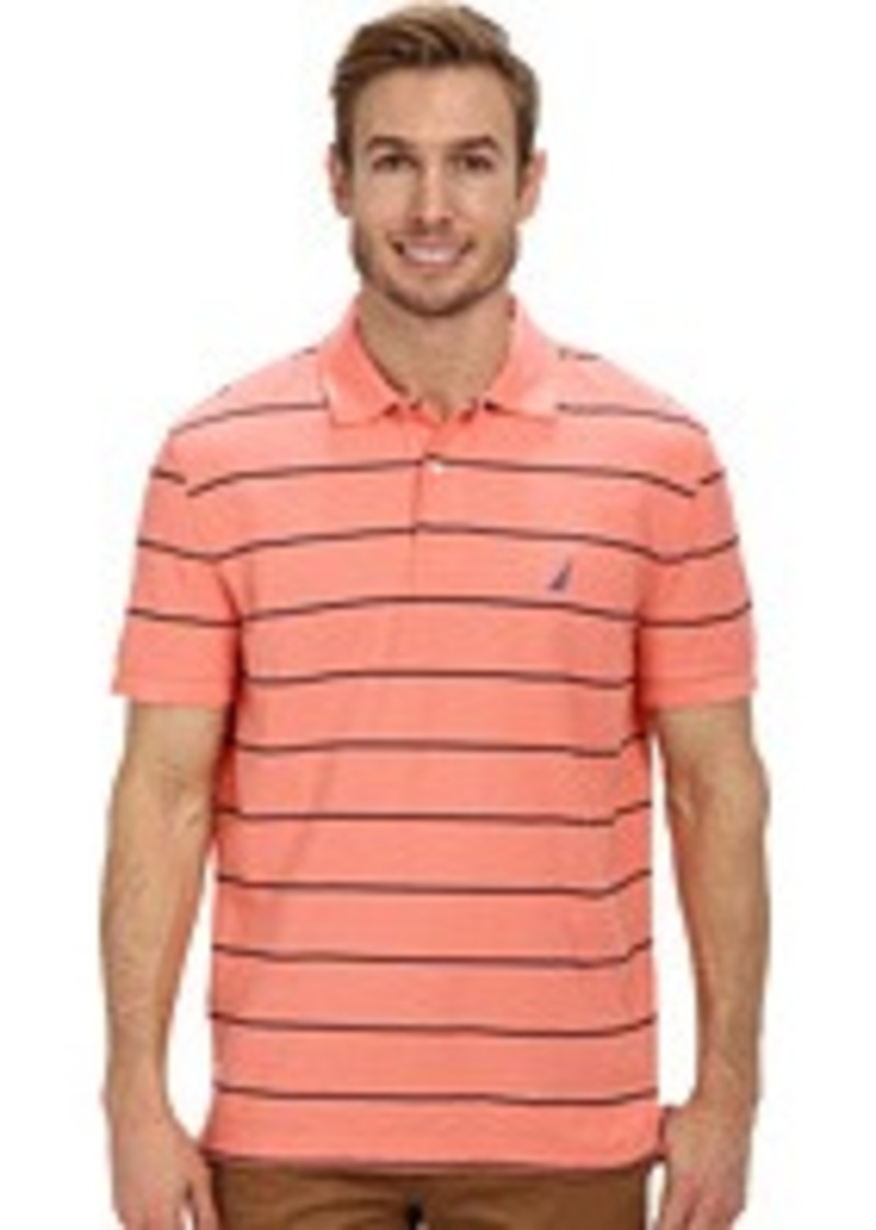 Nautica striped performance deck polo shirt for Nautica shirts on sale