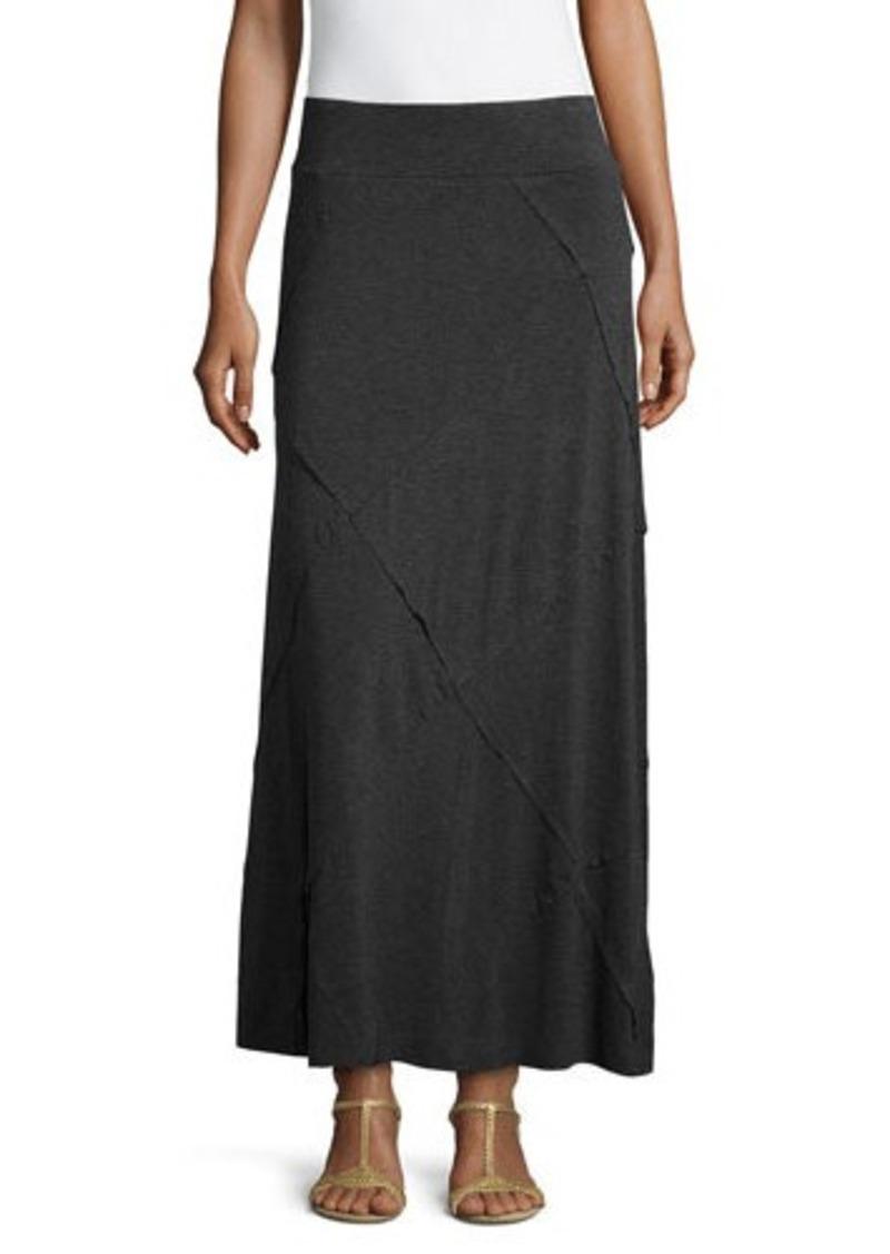neiman neiman layered ruffled maxi skirt