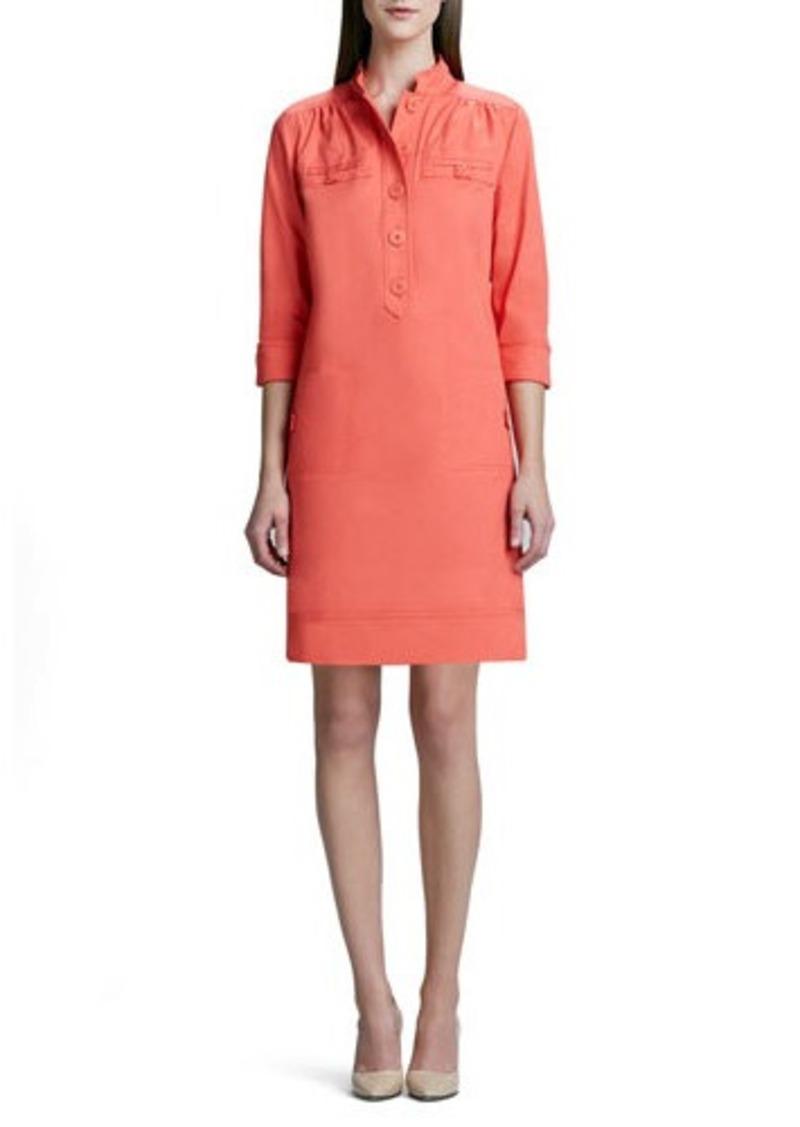 Neiman Marcus Neiman Marcus Linen-Blend Shirt Dress Linen-Blend Shirt ...