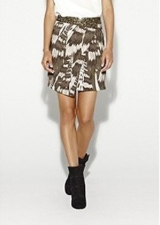 Abstraction Twill Skirt