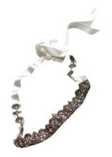 Antique Long Bridal Sash