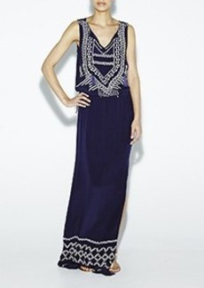 Boho Embroidered Maxi Dress