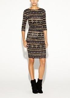 Christina Gilded Stripe Dress