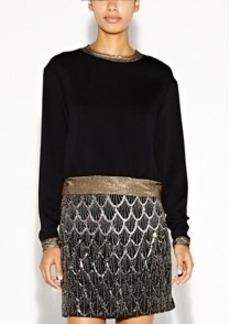 Courtney Crepe Sweatshirt