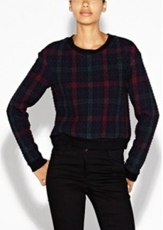 Courtney Quilted Plaid Top