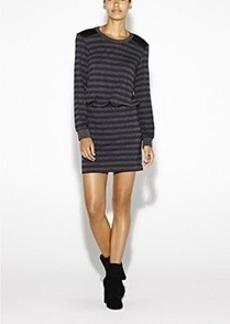 Elaine Striped Jersey Dress