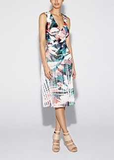 Flora Tropica Pleated Dress