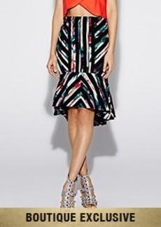 Floral Tropica Ruffle Skirt