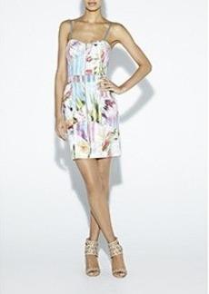 Flower Spike Denim Dress