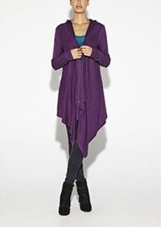 Jersey Hooded Cardigan