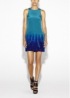 Jessi Ombre Feathers Dress