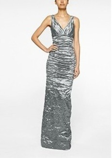 Keira Techno Metal Gown