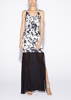 Lindsay Paint Strokes Maxi Dress