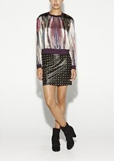 Mirrored Feather Top